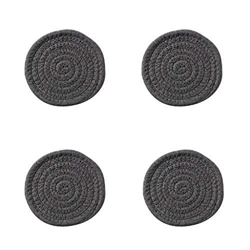 Lrxq geïsoleerd tapijt van dikke stof, donkergrijs, 4-delig