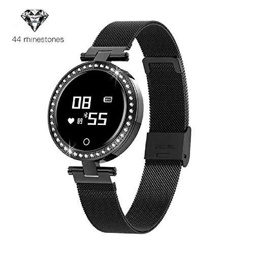 DECTN orologio da polso Luxury Women Watch Girl Diamond Mounting Design Heart Rate Calorie Fitness Tracker IP68 Sleep Tracker Digital watch