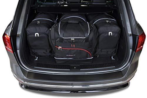KJUST Dedizierte Reisetaschen 4 STK Set kompatibel mit VW Touareg II 2010-2017