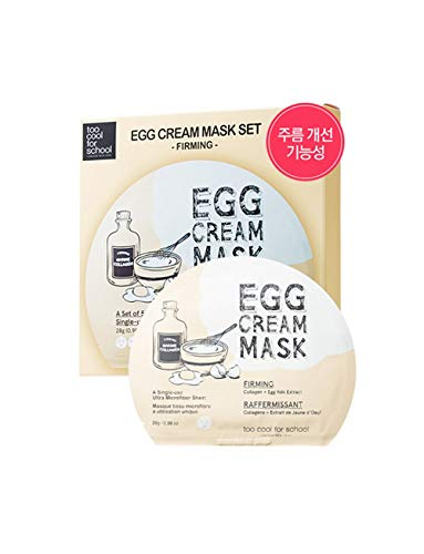 Too Cool For School Egg Cream Firming Mask Set