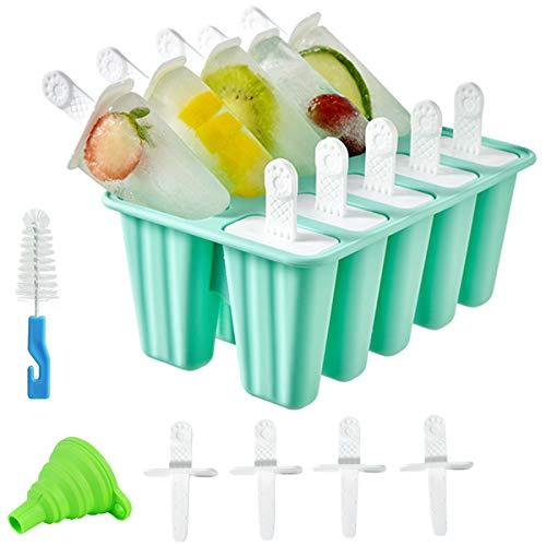 Molde de silicona para paletas de helado, reutilizable y fácil liberación