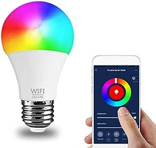 Bombilla de luz WiFi inteligente E26 / E27 9W 1000lm (equivalente a 80W) Regulable RGB Control de voz cambiante multicolor Trabaja con Alexa Google Home IFTTT y Siri