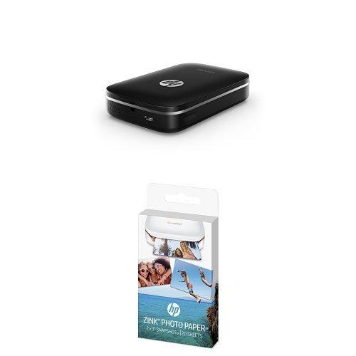 HP X7N07A Sprocket Stampante Fotografica Portatile, Bianco + HP Zink Carta Fotografica