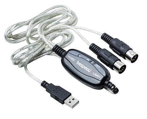 BESPECO BMUSB100 - Cavo interfaccia USB/MIDI per tastiera/PC