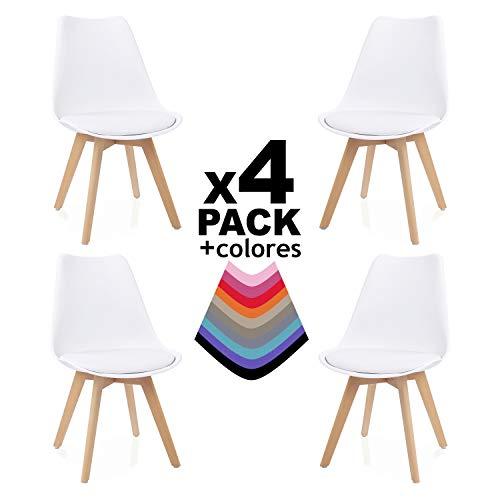 Duehome Bench Pack de 4 sillas