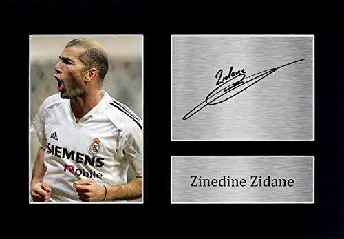 HWC Trading Zinedine Zidane A4 Ungerahmt Signiert Gedruckt Autogramme Bild Druck-Fotoanzeige Geschenk Für Real Madrid Fußball Fans