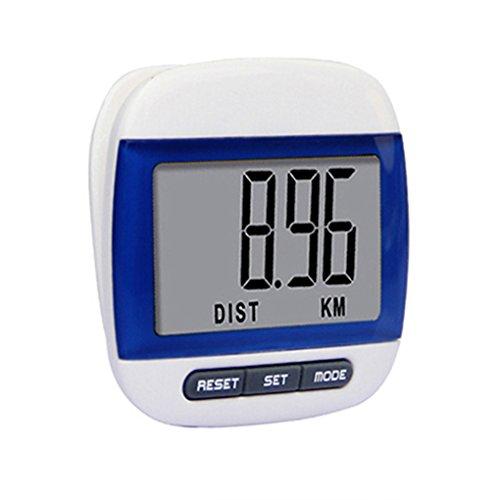 Gemini_mall® Schrittzähler, Mini-LCD-Display, mit Distanzmesser und Kalorienzähler, blau