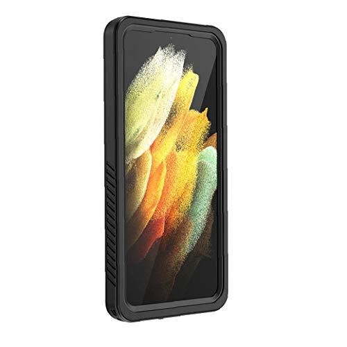 Tuimiyisou La Caja del teléfono es Compatible con Samsung S21 Plus Cubierta de 6,7 Pulgadas, con un Sistema Incorporado en el Protector de Pantalla. Todo el Cuerpo es Transparente, Resistente al Agua