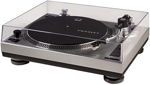 Crosley C100A-SI Belt-Drive Turntable with S-Shaped...