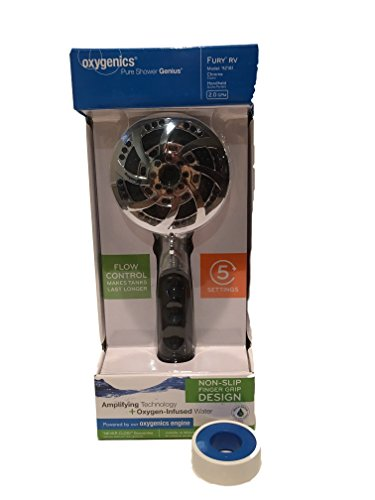 Oxygenics RV Shower Head with Hose Bundled with Pipe...