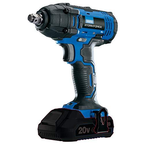 Draper 89519 Storm Force 20V 1/2' Square Drive Impact Wrench-Bare, Blue