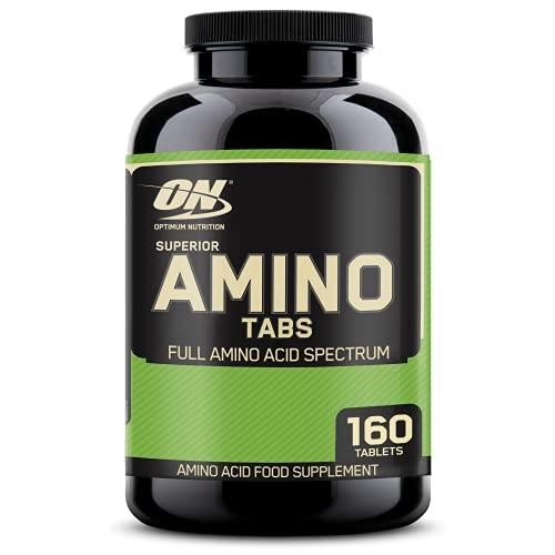 Optimum Nutrition Superior Amino 2222 Tablets, Complete Essential Amino Acids, EAAs, 160 Count
