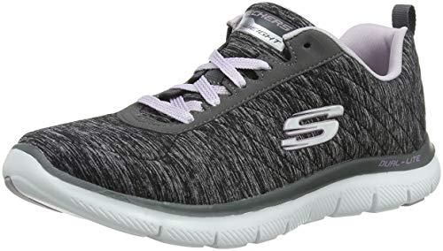 Skechers Damen Flex Appeal 2.0 Sneaker, Schwarz (Black/Lavender Bklv), 38 EU