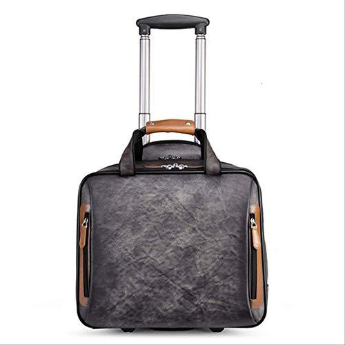 VBNM Koffer Retro Echtes Leder Männer Trolley Business Rad Koffer Tasche Rindsleder Erste Schicht Der Reise Handtasche Mann Gepäck LaptoptaschenWie Abgebildet