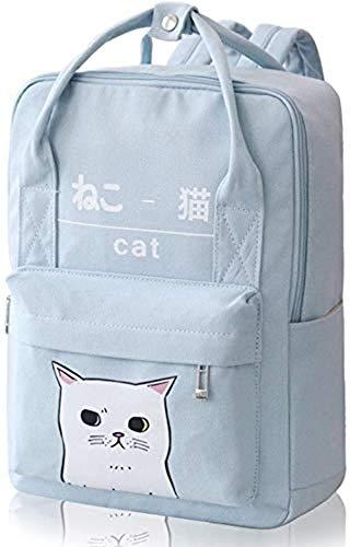 YAZI - Zaino in stile coreano con gatto Kawaii, da donna e ragazza, in...