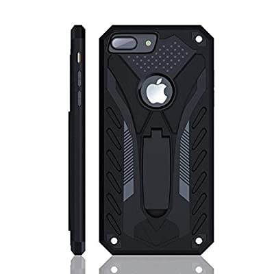 iPhone 8 Plus Case | Military Grade | 12ft. Drop Tested Protective Case | Kickstand | Wireless Charging | Compatible with Apple iPhone 8 Plus - Black