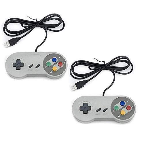 AMAZING1 2 Series Pack SNES NES Controller USB Classic Retro Gaming Joypads gamepad compatible with Gaming PC, Computer, Laptop, Apple MAC, Raspberry Pi, Wii U