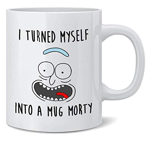 Rick and Morty Print Coffee Mug Cup (Turned)
