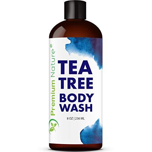 Tea Tree Body Wash Antibacterial - Bodywash Tee Tree Essential Oil Soap Cleanser All Natural 100% Pure Shower Gel (8 oz)