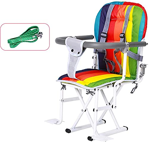 XY Bike Child Seat for Front Mount and Rear Seat, Bicycle Electrombile Safety Seat belt with Guardrail Armrest and Pedal Easy to Installment (Color : B)
