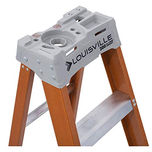 Louisville Ladder FS1504 4' Fiberglass Step Ladder, 4 Feet, Orange
