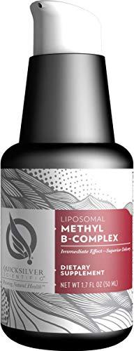 Quicksilver Scientific Liposomal Methyl B-Complex - Liquid Active B Vitamins with Folate, Methylcobalamin + Milk Thistle, Vegan Supplement - Detox, Immune, Mood, Liver + Energy Support (1.7oz / 50ml)