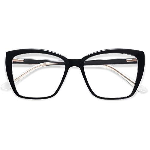 AMOMOMA Trendy TR90 Oversized Blue Light Reading Glasses...
