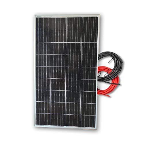 Panel solar 150W monocristalino 12V tecnología PERC placa de alta eficiencia con cable de 5 metros