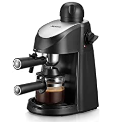 Easy Operation - Yabano steam espresso machine is very easy to use, for beginner without requiring much techniques and skills. It can make up to 4 cups espresso coffee at the same time, serving delicious espresso, cappuccinos and lattes for yourself,...