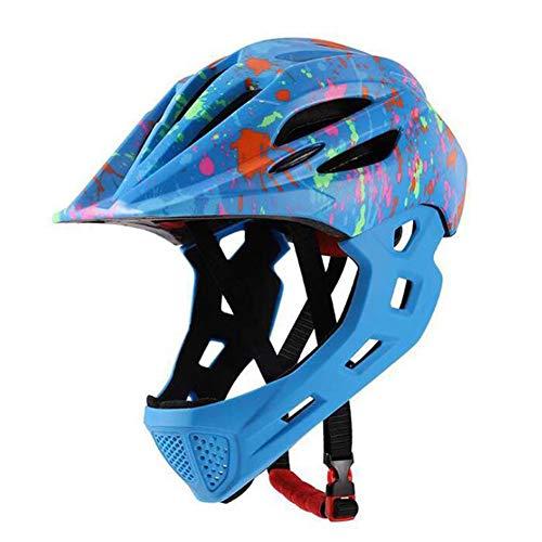 Veiligheidshelm voor kinderen Multifunctionele sporthelm met achterlichten voor fietsen en schaatsen voor peuters en jongeren van 3-10 jaar Meisjes/jongens,Blue