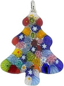 GlassOfVenice Colgante de árbol de Navidad de cristal de Murano, multicolor