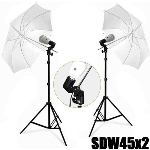 DynaSun 2X SDW45 Kit Illuminatore Flash Compatto da Studio Professionale