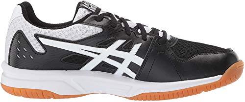 ASICS Upcourt 3 Women's Volleyball Shoe, Black/White, 8.5 M US