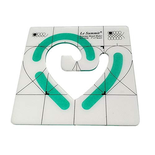 YEQIN Non-Slip Freemo Heart Ruler 3'X3' Patchwork Quilting Template