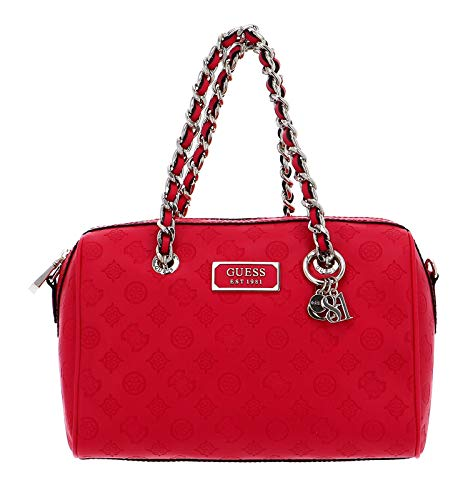 Guess Logo Love Box Satchel Hibiscus