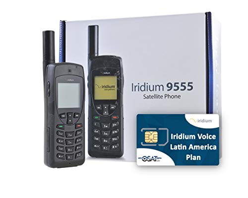 OSAT Teléfono Satelital Iridium 9555 y Tarjeta SIM Prepago Regional para Latinoamérica con 200 Minutos / 180 Días de Validez