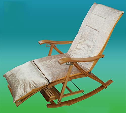 LXYStands Relaxer Chaise siège rembourré en Plein air Jardin Patio inclinable Coussins Pad Remplacement transat Housse de Coussin pour Voyage Vacances (Pas de Chaise)