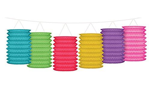 PartyDeco Guirlande avec lanternes Multicolore