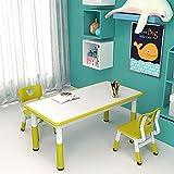Kinderzimmertisch & -stuhlsets Rechteckiges Kindertisch- Und Stuhlset, Verstellbarer Tisch Für Schlafzimmerkindergarten, Desktop Kann Zeichnen, Essen Und Spielen (Color : Blue, Size : Style1)