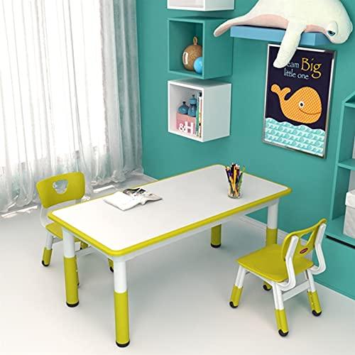 Mesa y S illa para Niños Conjunto De Mesa Y Silla Infantil Rectangular, Mesa Ajustable para Jardín De Infantes Dormitorio, El Escritorio Puede Dibujar, Comer Y Jugar (Color : Blue, Size : Style1)