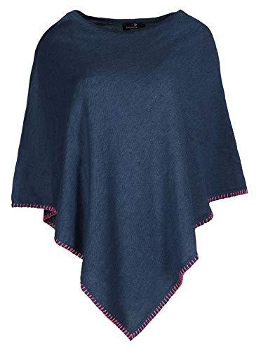 Zwillingsherz Poncho mit Baumwolle - Hochwertiges Cape Häkelrand für Frauen Damen Mädchen - XXL Umhängetuch und Tunika - Strick-Pullover - Sweatshirt - Stola für Frühjahr Sommer Herbst und Winter JNS