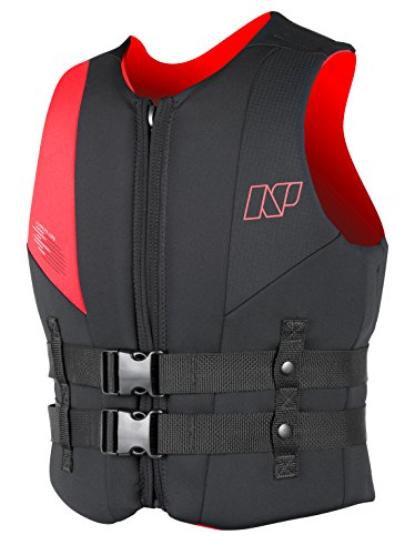 Review Of NP Surf USCG Neoprene Multi Sport Flotation Vest, Black/Red, Medium