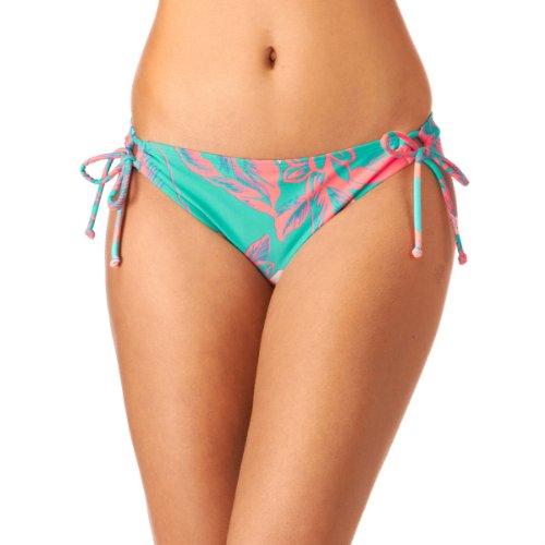 Roxy Damen Bikini Hose 70s Lowrider Tie Side, Light Jade, XL