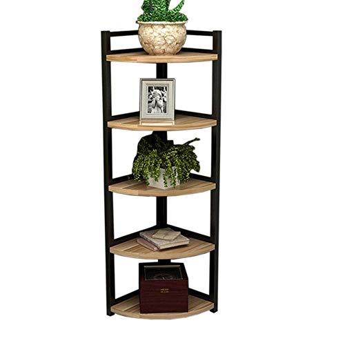 XYZX stellingen hoekrek woonkamer bloemenstandaard staal hout boekenkast partitie plank slaapkamer hoekdecoratie