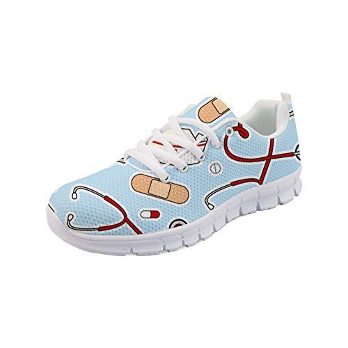 POLERO Sneaker Zapatillas de Deporte Nurse Bear Serie para Dama Mujer con Cordones 36-41 Talla Europea