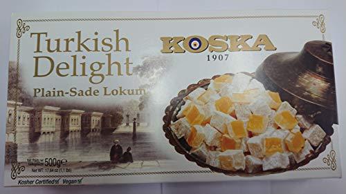Turkish Delight, Lokum PUR - Sade Lokum, Türkischer Honig, Türkische Süßigkeit, 500gr