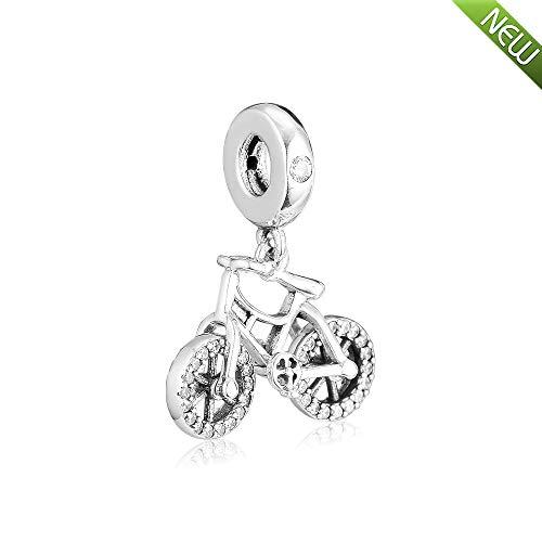 PANDOCCI 2019 frühling Brillante Fahrrad hängen Perle 925 Silber DIY passt für original Pandora armbänder Charme modeschmuck