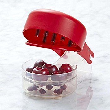Cherry Olive Pitter, Cherry Seed Stone Remover, Removal Bone 6 Cherries Fast Enucleate Removal of Bone Kitchen Gadget Fruit Tool
