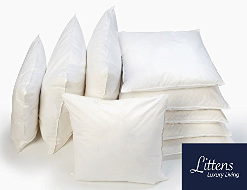 Littens - 4 Pack 22' x 22' Duck Feather Cushions Pads with 100% Down-Proof Cotton Casing - Heavy Filling Inners (55cm x 55cm)
