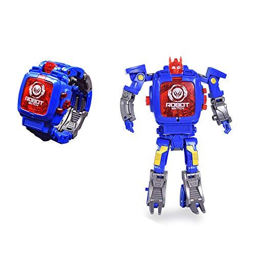 Orologio Digitale da Bambini Robot Orologi da Ragazza e Ragazzi Deformabile Blu